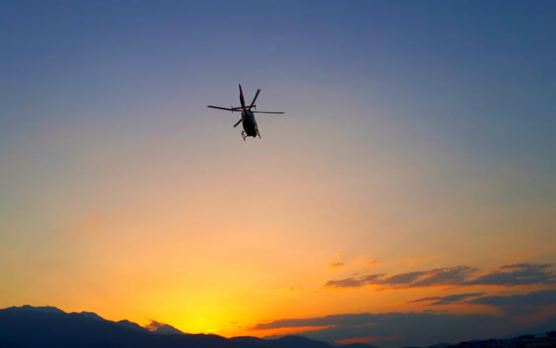 直升机迎送