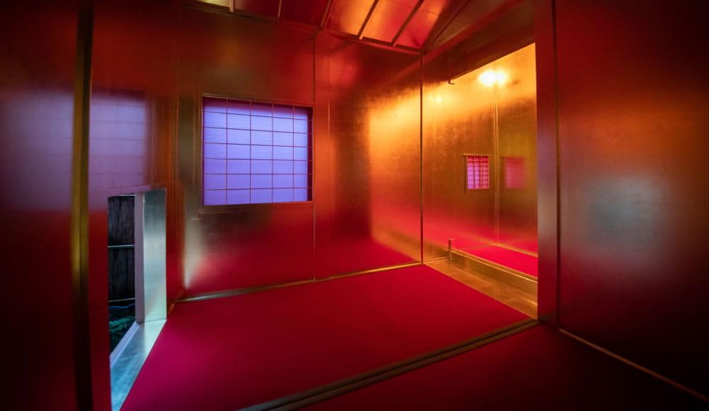 Golden tea room
